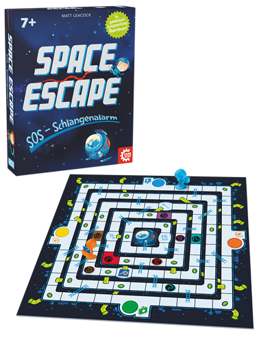 Space Escape Box mit Spielmaterial