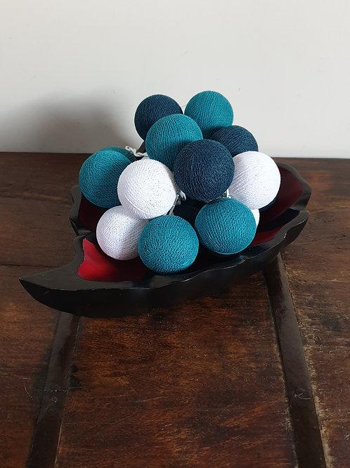 Boule en coton turquoise