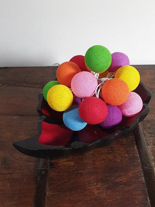 Boule en coton multicolors