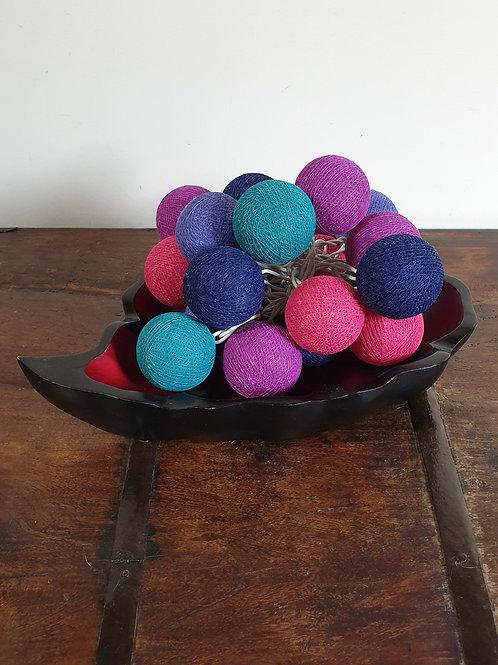 Boule en coton framboise