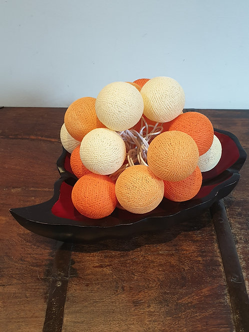 Boule en coton orange