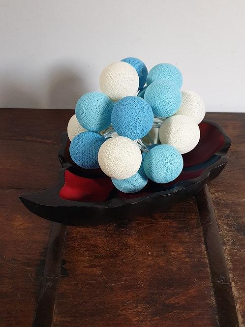 Boule en coton bleue
