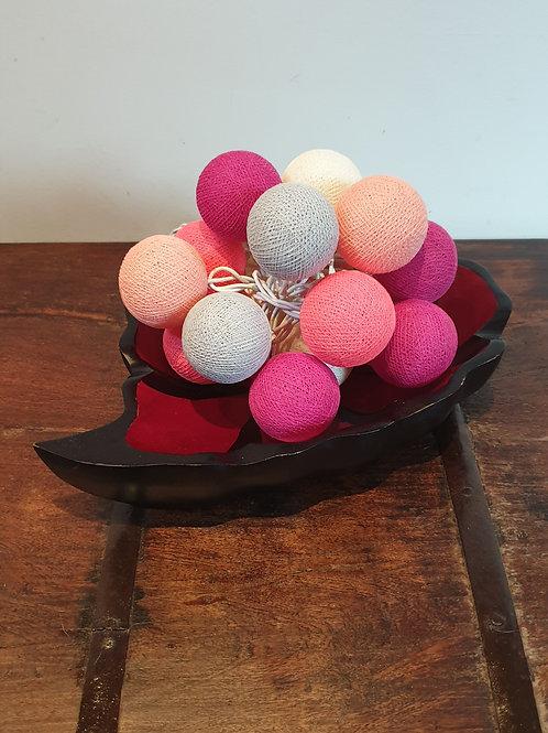 Boule en coton pastel mauve