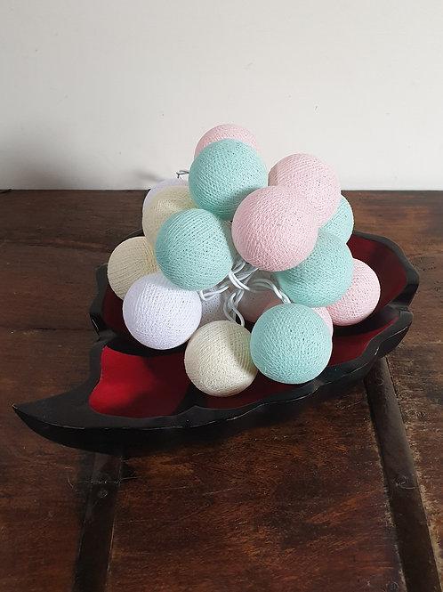 Boule en coton pastel