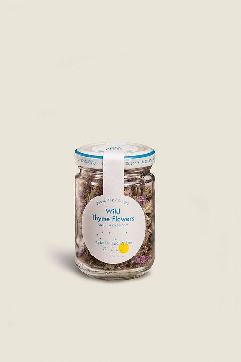 WILD THYME FLOWERS GLASS JAR