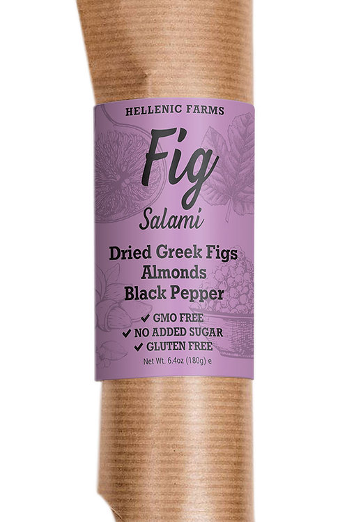 FIG SALAMI W/ ALMONDS & BLACK PEPPER