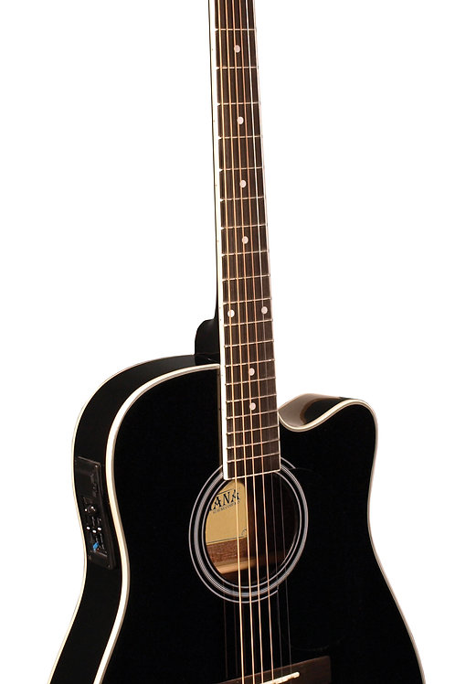 Indiana Thin Body Acoustic / Electric Black