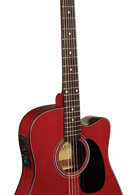 Indiana Thin Body Acoustic / Electric Red