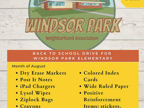 Windsor Park Elementary School Supply Drive