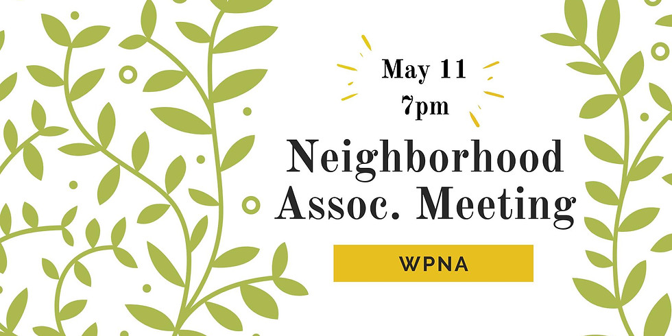 WPNA Monthly Meetings: Second Tuesday each Month