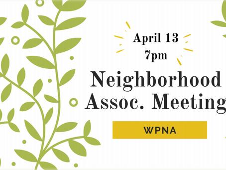 WPNA Meeting | April 13, 2021