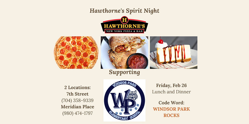 Hawthorne's Pizza Gives Back to Windsor Park Elementary