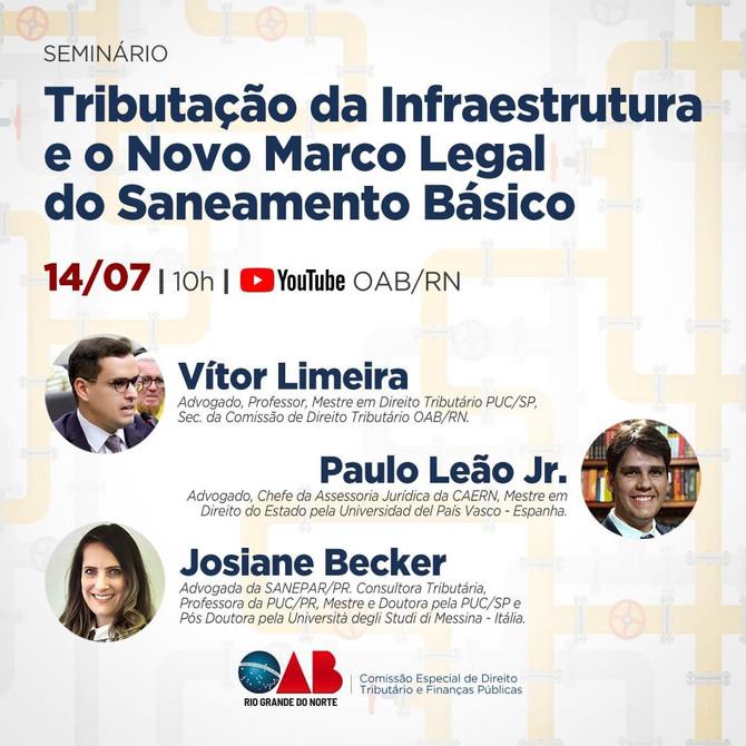 Live: Tributação da Infraestrutura e o novo marco legal do Saneamento Básico