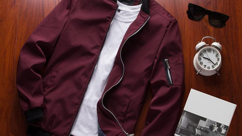 Spring New Men's Bomber Zipper Jacket Male Casual Streetwear Hip Hop Slim Fit