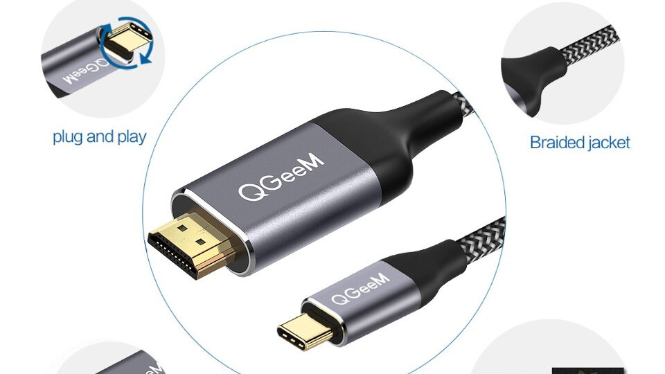 USB C to HDMI Cable 4K Type C Thunderbolt Converter for MacBook