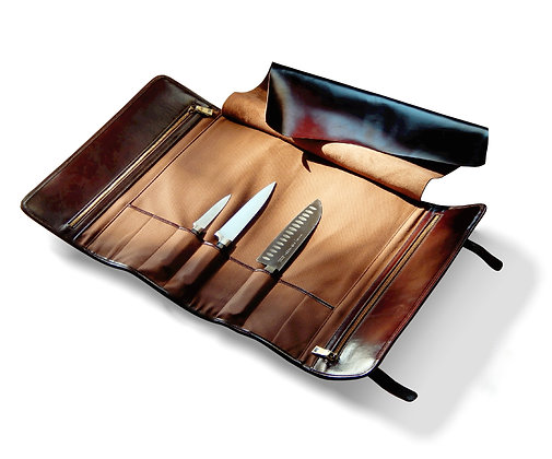 h hmage leather chef knife roll an instant classic. Black Bedroom Furniture Sets. Home Design Ideas