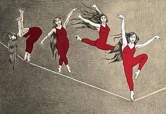 mujer_equilibrio_ilustracion_diseño_laur