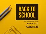 School is starting soon!