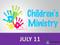 Children's Ministry Sunday