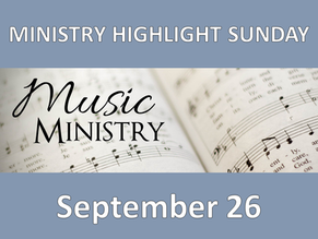 Join us for a special service highlighting our Music Ministry!
