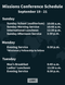 Missions Conference Schedule