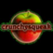 The crunchysqueak logo, a crunchy red and green apple.