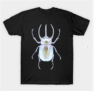 A ghoslty stag beetle tshirt. Bug lovers art.