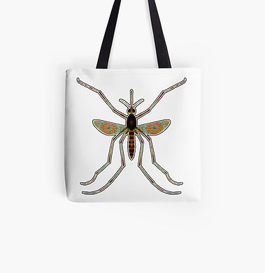 A giant mosquito tote bag for summer fashion.