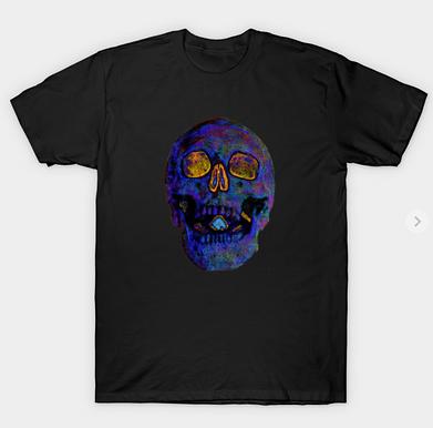 Deep Blue Death Skull T-Shirt