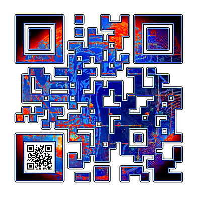 When Scanned the smaller code echoes the larger abstract version with the word 'Science', a way to say what you want to say in a quiet way.