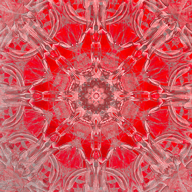 Graceful Red Memories In An Atique Pattern Art Print