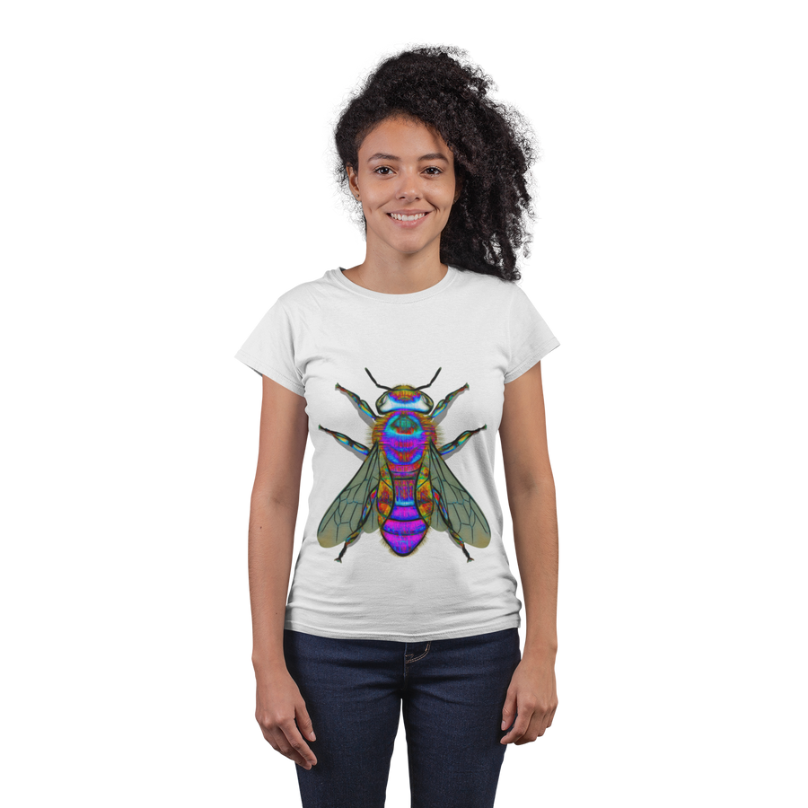Bee A Purple Bumble Bee Classic T-Shirtred-girl-sm