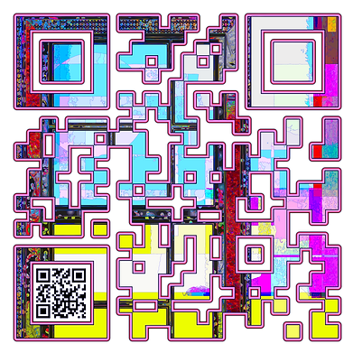 When Scanned the smaller code echoes the larger abstract version with the word 'Harmony', a way to say what you want to say in a quiet way.