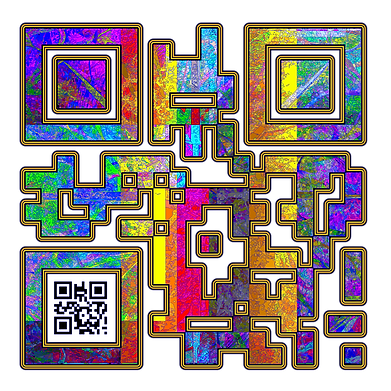 When Scanned the smaller code echoes the larger abstract version with the word 'Knight' a way to show your gaming class in a quiet way.