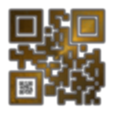 When Scanned the smaller code echoes the larger abstract version with the word 'Respect', a way to say what you want to say in a quiet way.