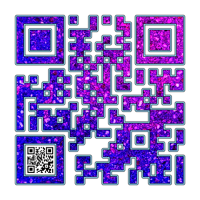 When Scanned the smaller code echoes the larger abstract version with the word 'Introvert', a way to say what you want to say in a quiet way.