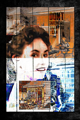 Nuclear Patio And Nothing Went Wrong Popart Collage Art Print