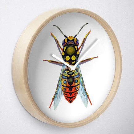 Wasp Geometric Design Graphic Clock
