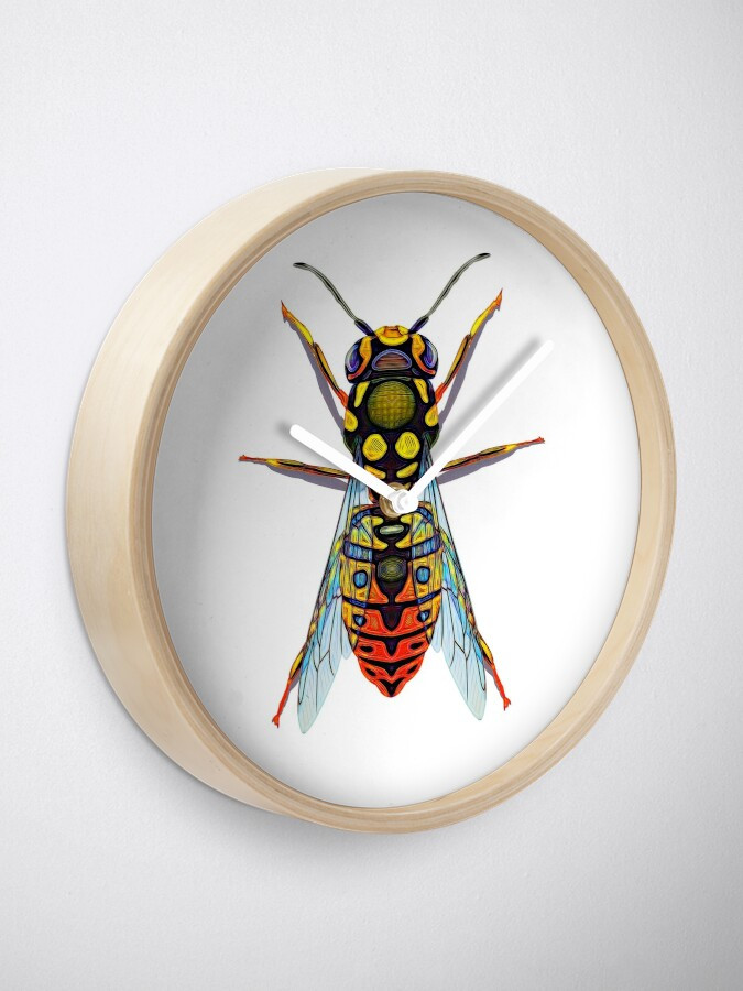 Wasp Geometric Design Graphic Clock