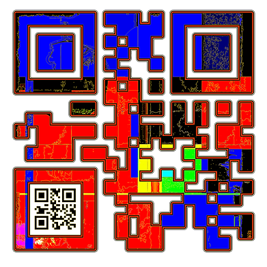 When Scanned the smaller code echoes the larger abstract version with the word 'Confidence', a way to say what you want to say in a quiet way.