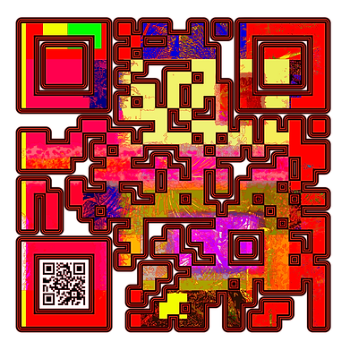 When Scanned the smaller code echoes the larger abstract version with the word 'Fighter' a way to show your gaming class in a quiet way.