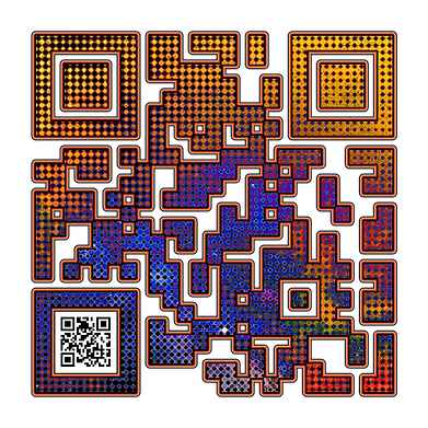 When Scanned the smaller code echoes the larger abstract version with the word 'Freedom', a way to say what you want to say in a quiet way.