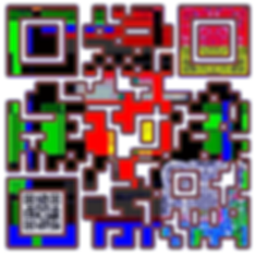 When Scanned the smaller code echoes the larger abstract version with the word 'Warlock' a way to show your gaming class in a quiet way.
