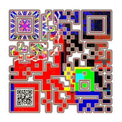 When Scanned the smaller code echoes the larger abstract version with the word 'Dream', a way to say what you want to say in a quiet way.