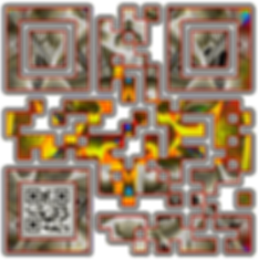 When Scanned the smaller code echoes the larger abstract version with the word 'Certainty', a way to say what you want to say in a quiet way.