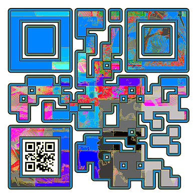 When Scanned the smaller code echoes the larger abstract version with the word 'Monk' a way to show your gaming class in a quiet way.