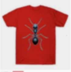 A black ant graphic tshirt design for insect lovers.