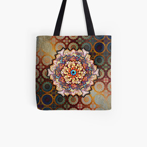 Desert Rose Flower In An Exotic Pattern Tote Bag