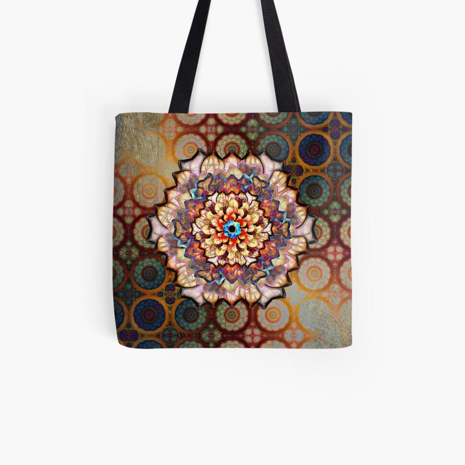 Desert Rose Flower In An Exotic Pattern Tote Bag