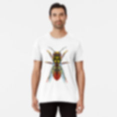 A large graphic wasp image for tshirts and other various products.